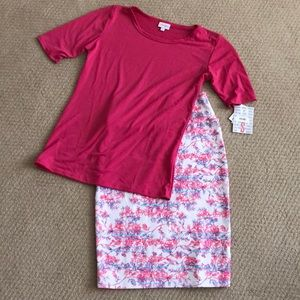 LuLaRoe Cassie size xs/Gigi size small outfit